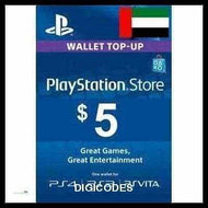 PSN $5 USA (UNITED ARAB EMIRATES) (INSTANT DELIVERY) - (Official Website) - (Digital Download) - DIGICODES