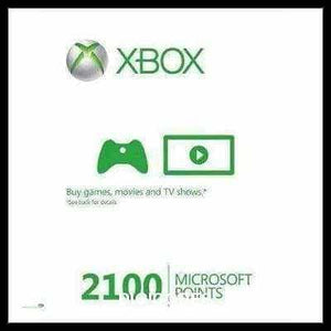 Xbox Live 2100 Microsoft Points (INSTANT DELIVERY) - (Official Website) - (Digital Download) - DIGICODES