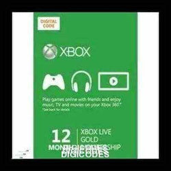 XBOX LIVE GOLD 12 MONTH (INSTANT DELIVERY) - (Official Website) - (Digital Download) - DIGICODES