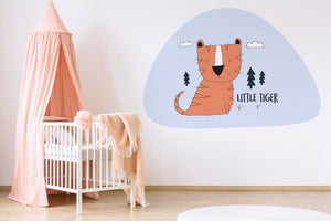 The Little Tiger wall sticker wall decoration wall decals wall decal vinyl sticker vinyl room decoration kids room kids decoration kids decal