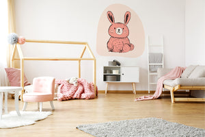 The Pink Bunny wall sticker wall decoration wall decals wall decal vinyl sticker vinyl room decoration kids room kids decoration kids decal