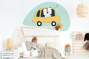 A Riding Tiger wall sticker wall decoration wall decals wall decal vinyl sticker vinyl room decoration kids room kids decoration kids decal