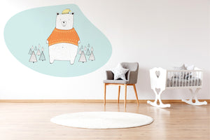 Bear in the Jungle wall sticker wall decoration wall decals wall decal vinyl sticker vinyl room decoration kids room kids decoration kids decal