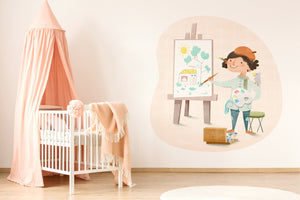 The Painter wall sticker wall decoration wall decals wall decal vinyl sticker vinyl room decoration kids room kids decoration kids decal