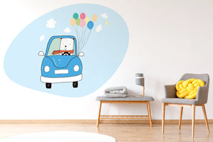 A Bear And Balloons wall sticker wall decoration wall decals wall decal vinyl sticker vinyl room decoration kids room kids decoration kids decal