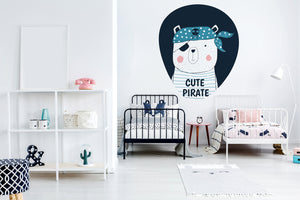 The Cute Pirate wall sticker wall decoration wall decals wall decal vinyl sticker vinyl room decoration kids room kids decoration kids decal