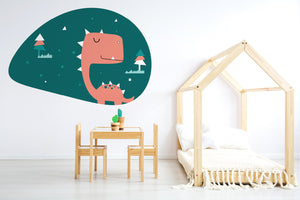 a dino in jungle wall sticker wall decoration wall decals wall decal vinyl sticker vinyl room decoration kids room kids decoration kids decal