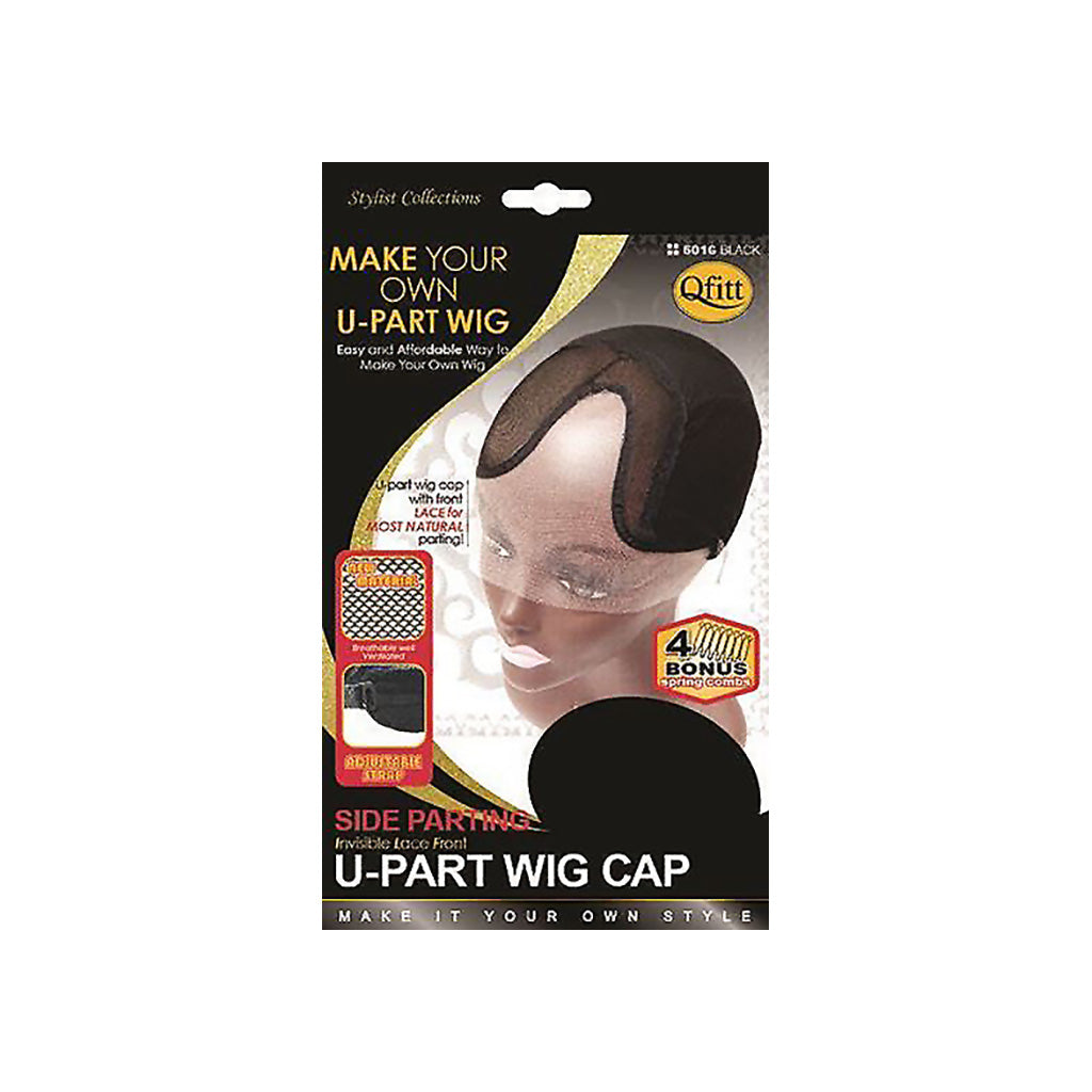 Qfitt Invisible Lace Front SIDE PARTING U-Part Wig Cap - Hair Crown Beauty Supply