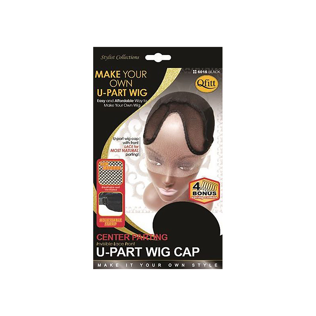 Qfitt Invisible Lace Front CENTER PARTING U-Part Wig Cap - Hair Crown Beauty Supply