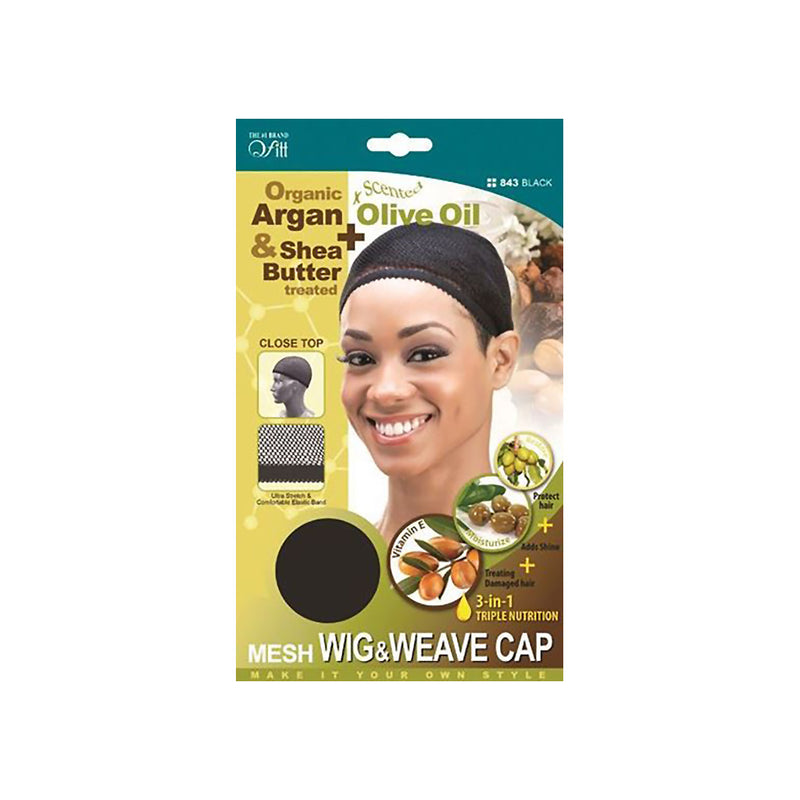 Qfitt Organic Argan & Shea Butter Mesh Wig & Weave Cap - Hair Crown Beauty Supply