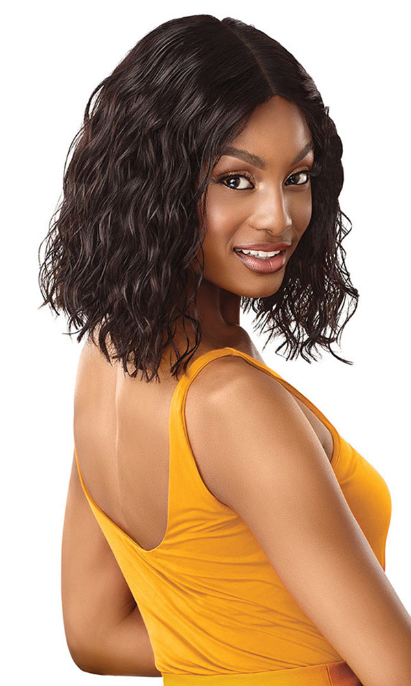 Outre Daily Wig Human Hair Lace Part Wig CURLY BLUNT CUT BOB 14"