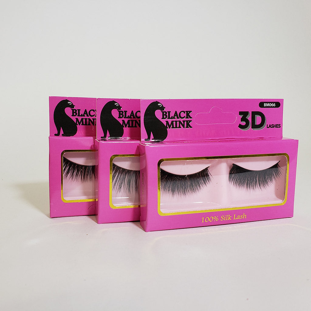 6b7efa2c069 3 Pack) Black Mink 3D Lashes - Hair Crown Beauty Supply