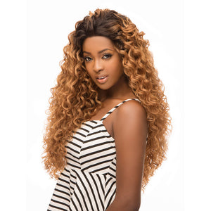 Hair Topic Brazilian Human Hair Blend Wide Lace Wig 506 - Hair Crown Beauty Supply