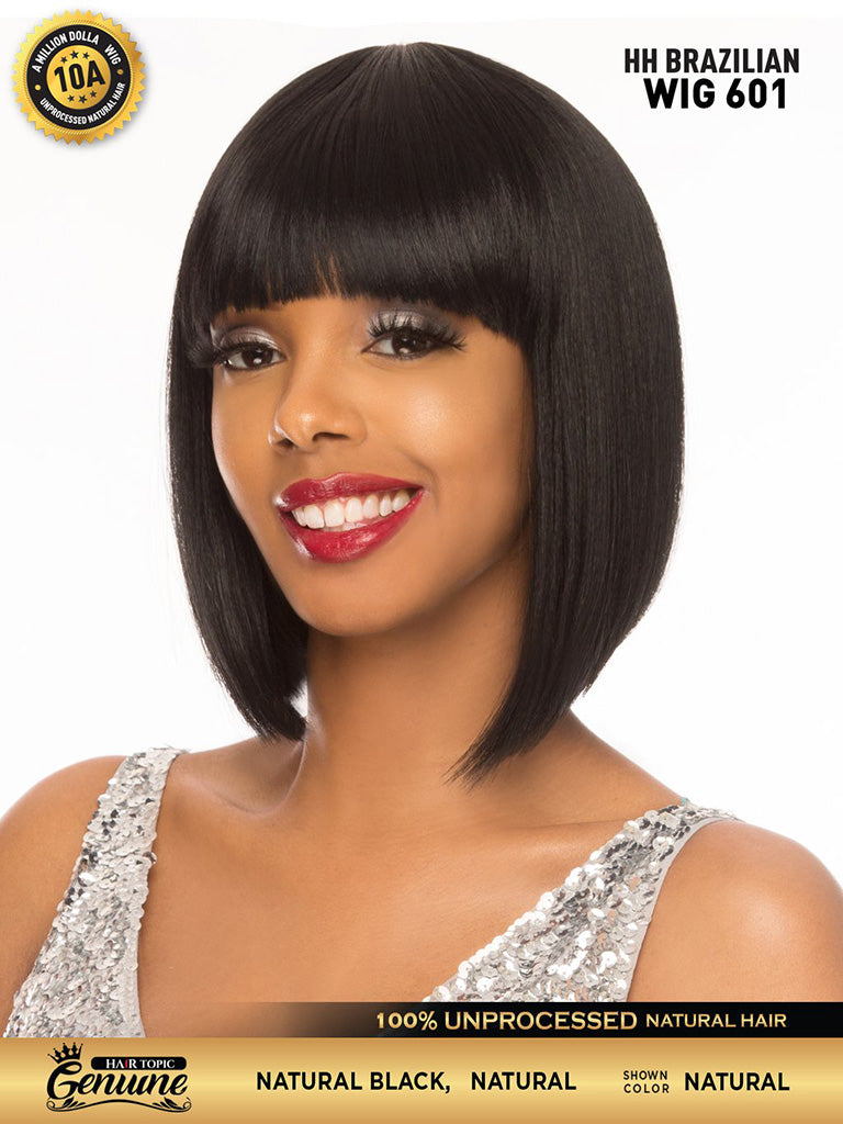 Hair Topic Genuine Brazilian Human Hair Wig 601 - Hair Crown Beauty Supply