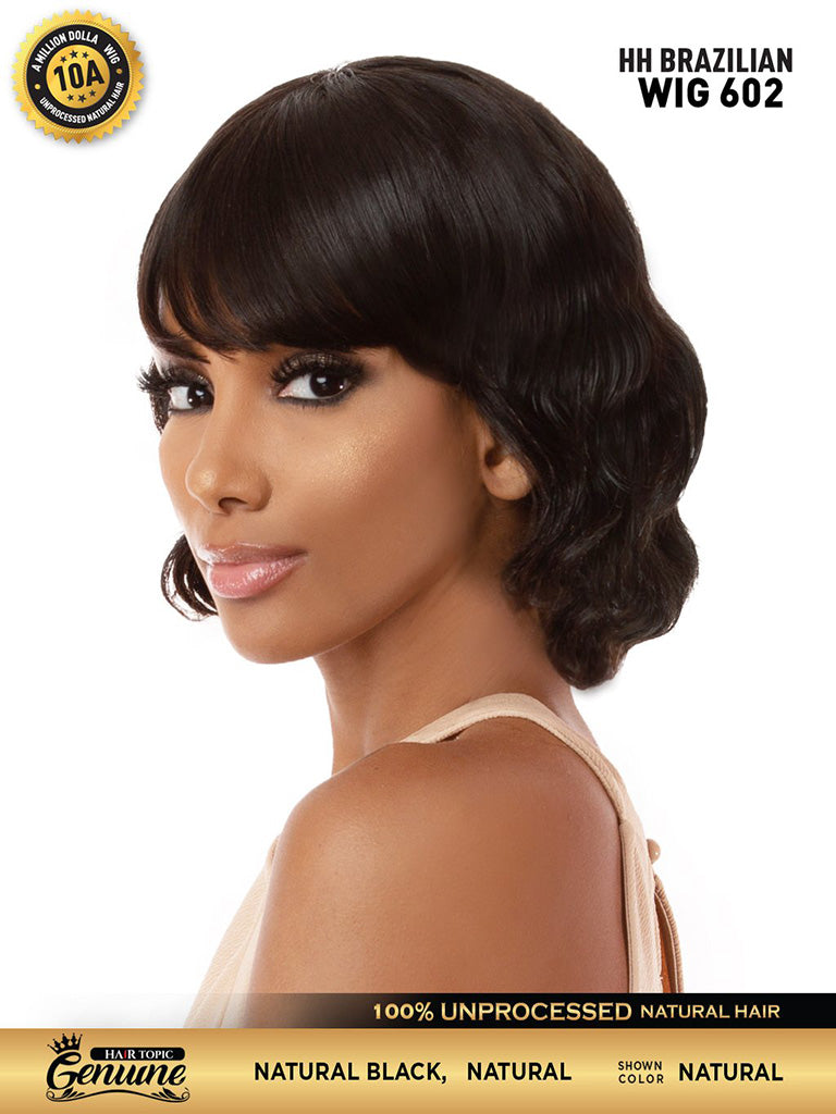 Hair Topic Genuine Brazilian Human Hair Wig 602 - Hair Crown Beauty Supply