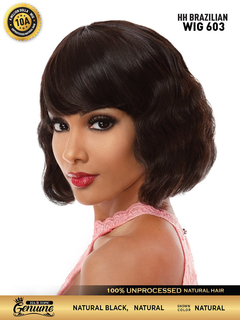 Hair Topic Genuine Brazilian Human Hair Wig 603 - Hair Crown Beauty Supply