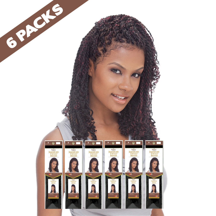 (6 pack) FreeTress EQUAL Jamaican Twist Braid - Hair Crown Beauty Supply