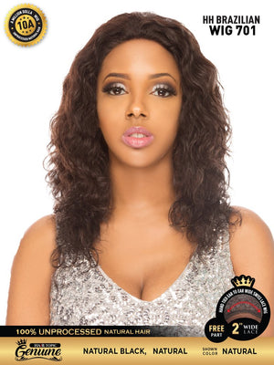Hair Topic Genuine Brazilian Human Hair Lace Wig 701 - Hair Crown Beauty Supply