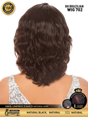 Hair Topic Genuine Brazilian Human Hair Lace Wig 702 - Hair Crown Beauty Supply