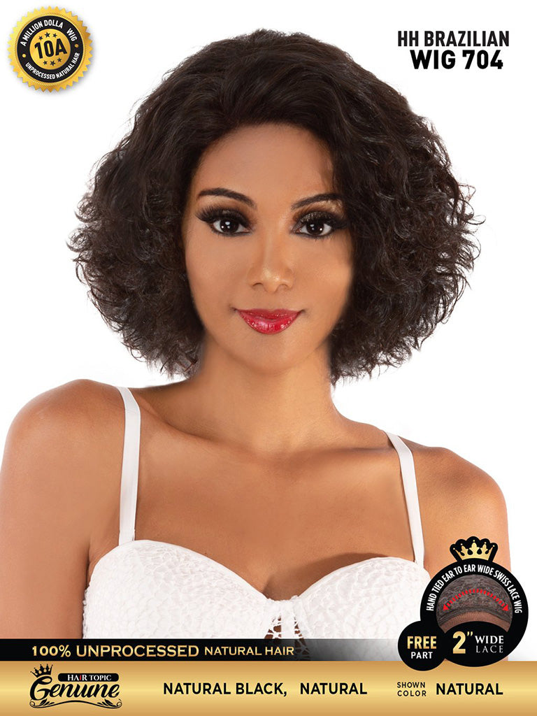 Hair Topic Genuine Brazilian Human Hair Lace Wig 704 - Hair Crown Beauty Supply