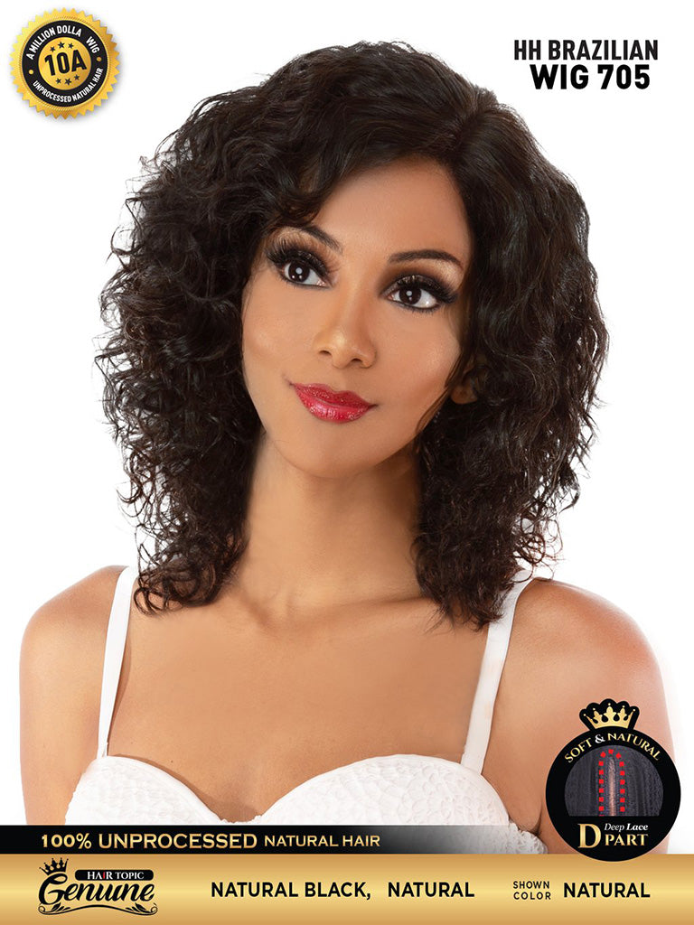 Hair Topic Genuine Brazilian Human Hair Lace Wig 705 - Hair Crown Beauty Supply