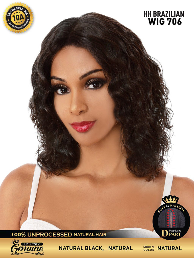 Hair Topic Genuine Brazilian Human Hair Lace Wig 706 - Hair Crown Beauty Supply