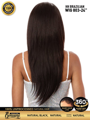 "Hair Topic Genuine Brazilian Human Hair 360 Lace Wig 803 24"" - Hair Crown Beauty Supply"