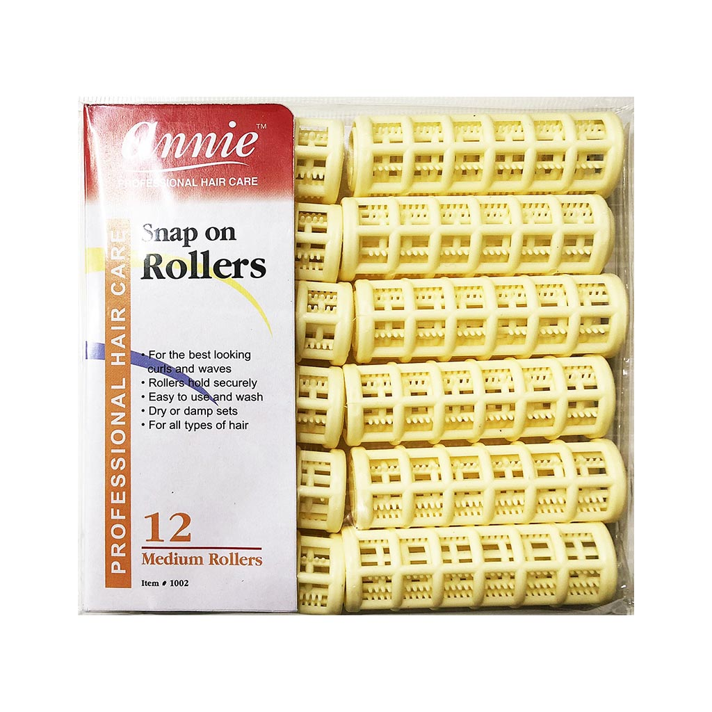 Annie #1002 Snap On Rollers MEDIUM (12CT)