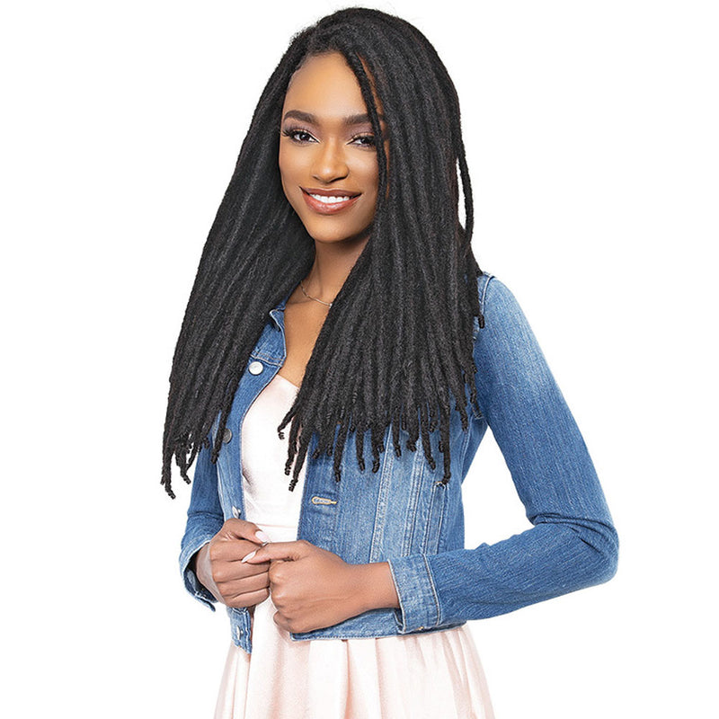 FEMI EDGE Loc N Roll 100% Human Hair Locs 10 Strands 0.7CM Thickness | Hair Crown Beauty Supply
