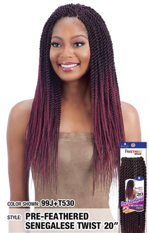 "FreeTress Pre-Feathered Senegalese Twist  20"" - Hair Crown Beauty Supply"