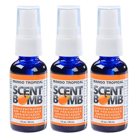 "(3 Bottles) ScentBomb ""Mango Tropical"" Air Freshener Spray Bottle - Hair Crown Beauty Supply"