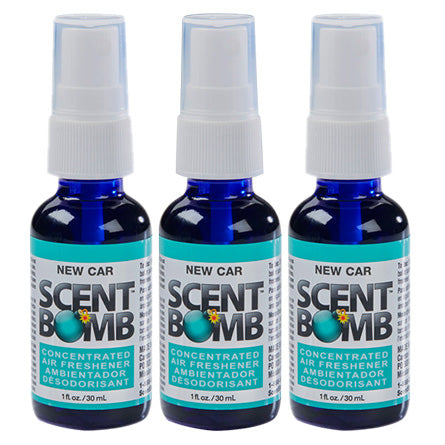 "(3 Bottles) ScentBomb ""New Car"" Air Freshener Spray Bottle 1fl oz - Hair Crown Beauty Supply"