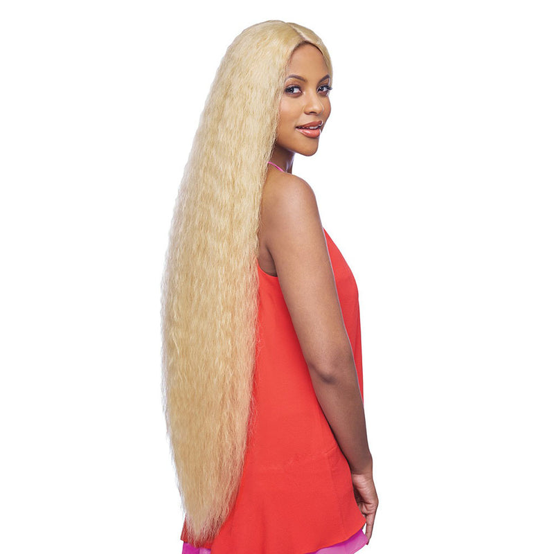Vanessa Honey Human Hair Blend Deep Part Lace Front Wig TDHB NIKOLA 45 | Hair Crown Beauty Supply