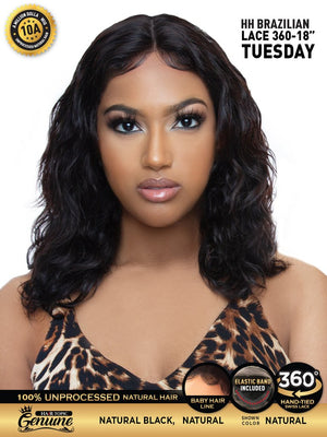 "Hair Topic Genuine Brazilian Human Hair 360 Lace Wig 18"" TUESDAY - Hair Crown"
