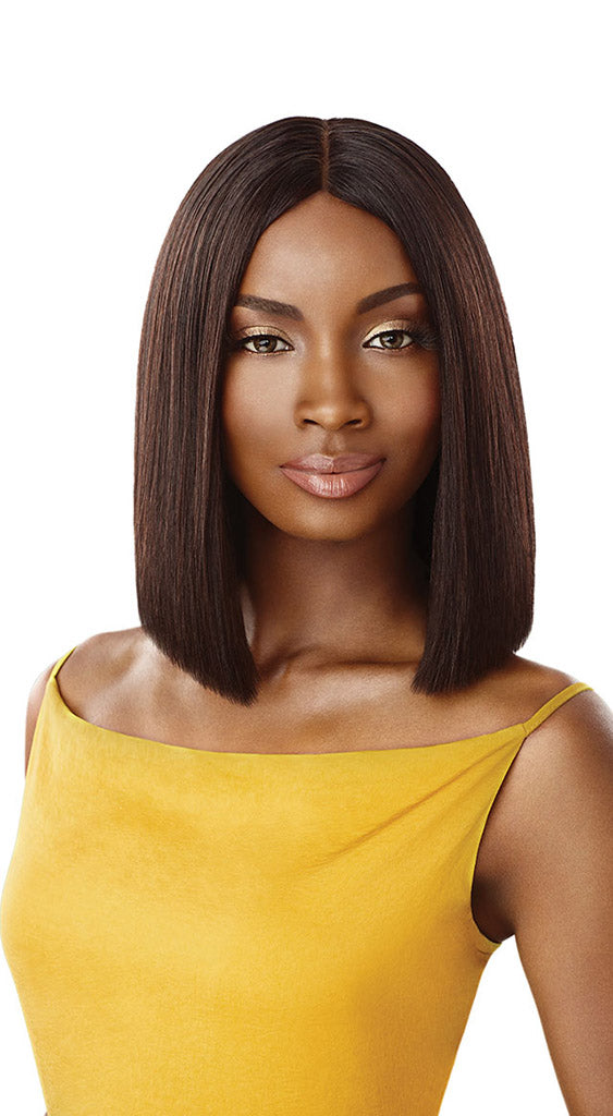 "Outre Daily Wig Human Hair STRAIGHT BLUNT CUT BOB 12"" - Hair Crown Beauty Supply"