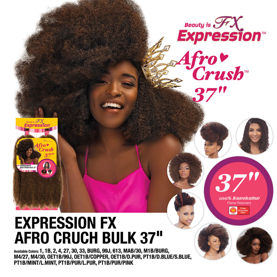 "FEMI FX Expression Afro Crush Bulk 37"" - Hair Crown Beauty Supply"