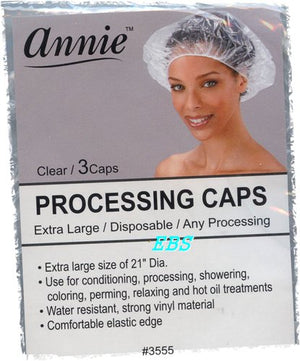 Annie Processing Cap Extra Large 3pc - Hair Crown Beauty Supply