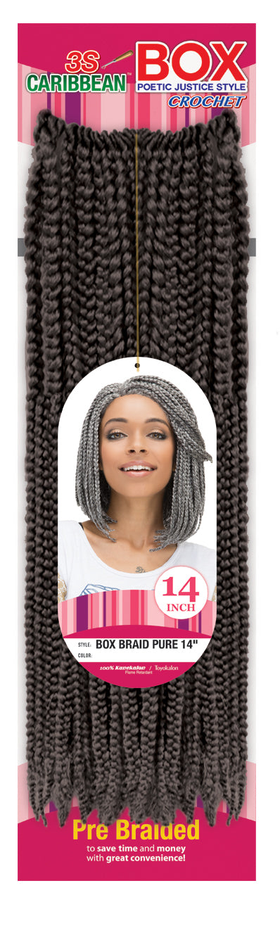 "Femi 3S Caribbean Box Braid Pure 14"" - Hair Crown Beauty Supply"