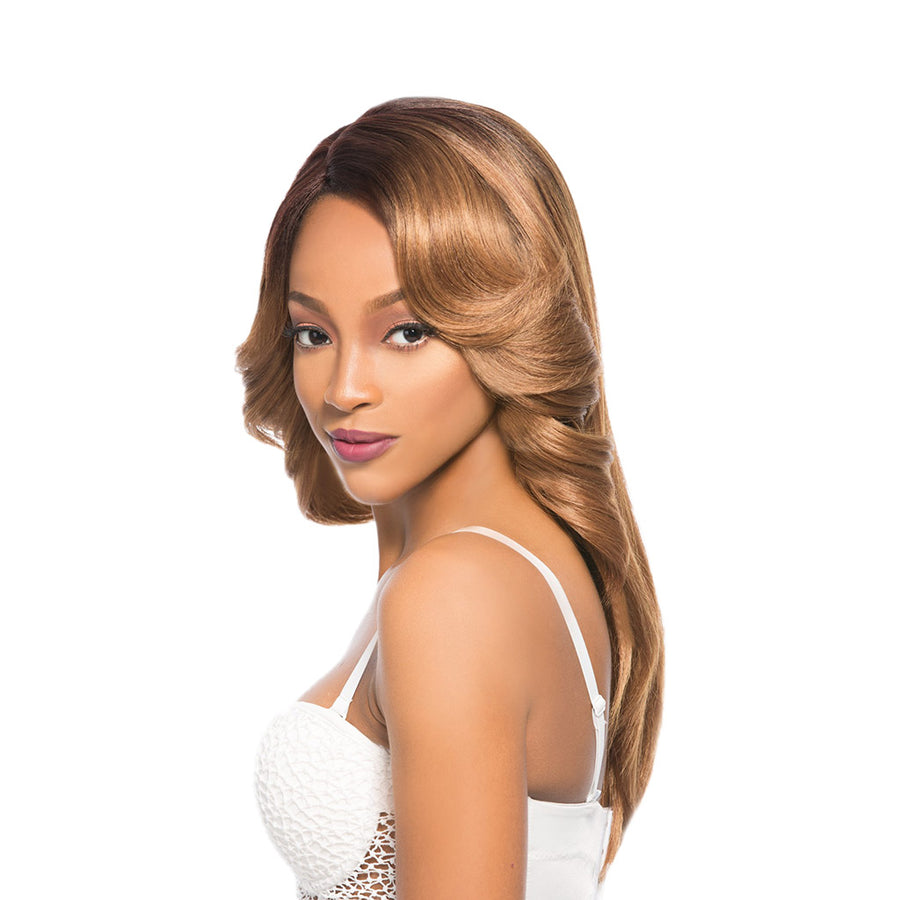 Hair Topic Human Hair Blend Mega Lace C Part 305 Wig - Hair Crown Beauty Supply