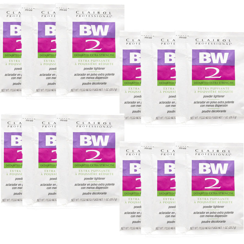 (12 Packets) Clairol BW2 Extra Strength Powder Lightener 1oz - Hair Crown Beauty Supply