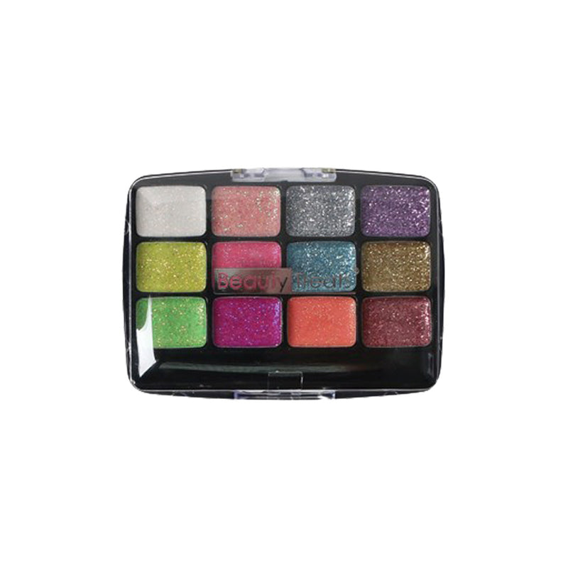 Beauty Treats 12 Color Glitter Palette - Hair Crown Beauty Supply