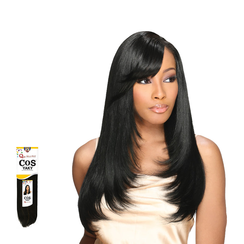 Milky Way Que COS Yaky Weave Human Hair Mastermix 12 - Hair Crown Beauty Supply