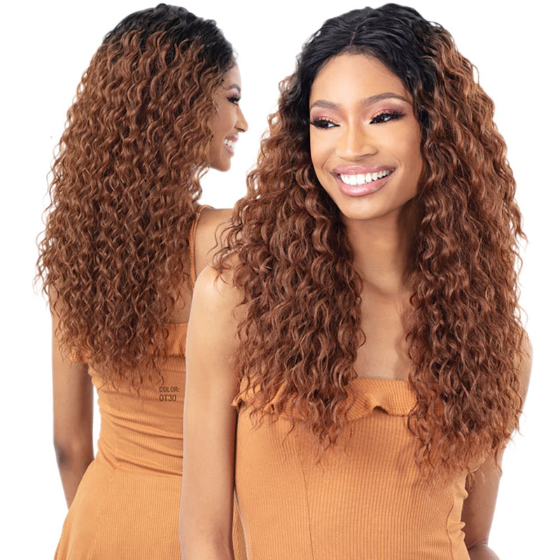 "FreeTress EQUAL Lace Front Wig 5"" Deep Lace Part CRUSH (L) 