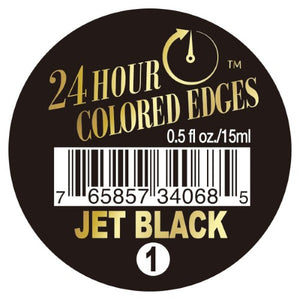 EBIN 24Hour Colored Edge Tamer 0.5oz JET BLACK - Hair Crown Beauty Supply