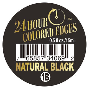 EBIN 24Hour Colored Edge Tamer 0.5oz NATURAL BLACK - Hair Crown Beauty Supply