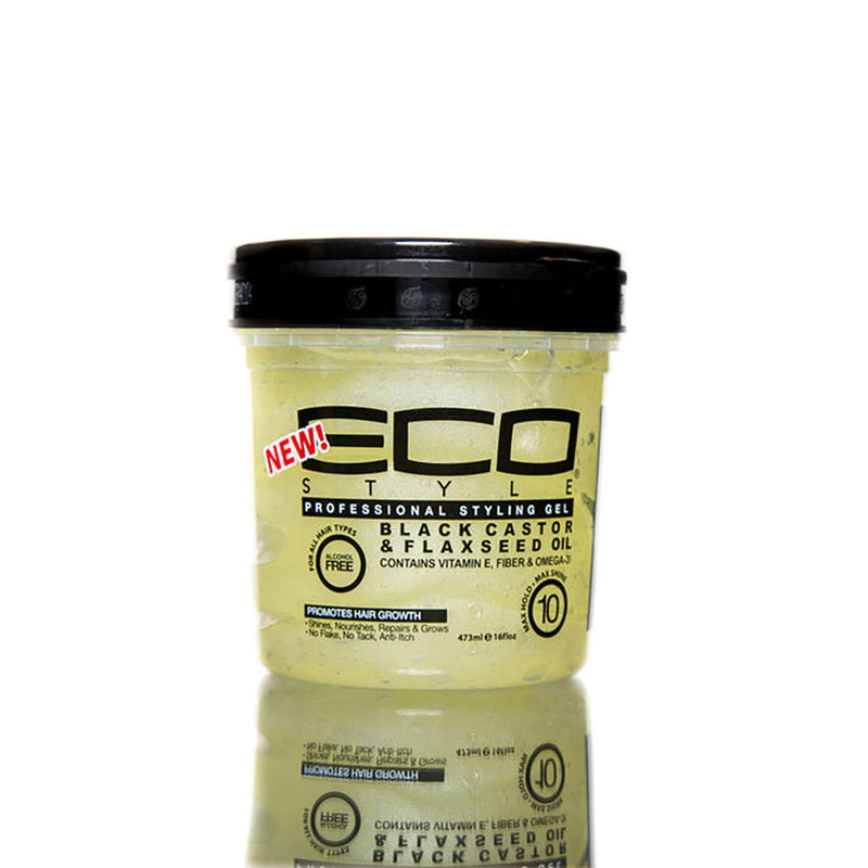 ECO Style Black Castor & Flaxseed Oil Gel - Hair Crown Beauty Supply