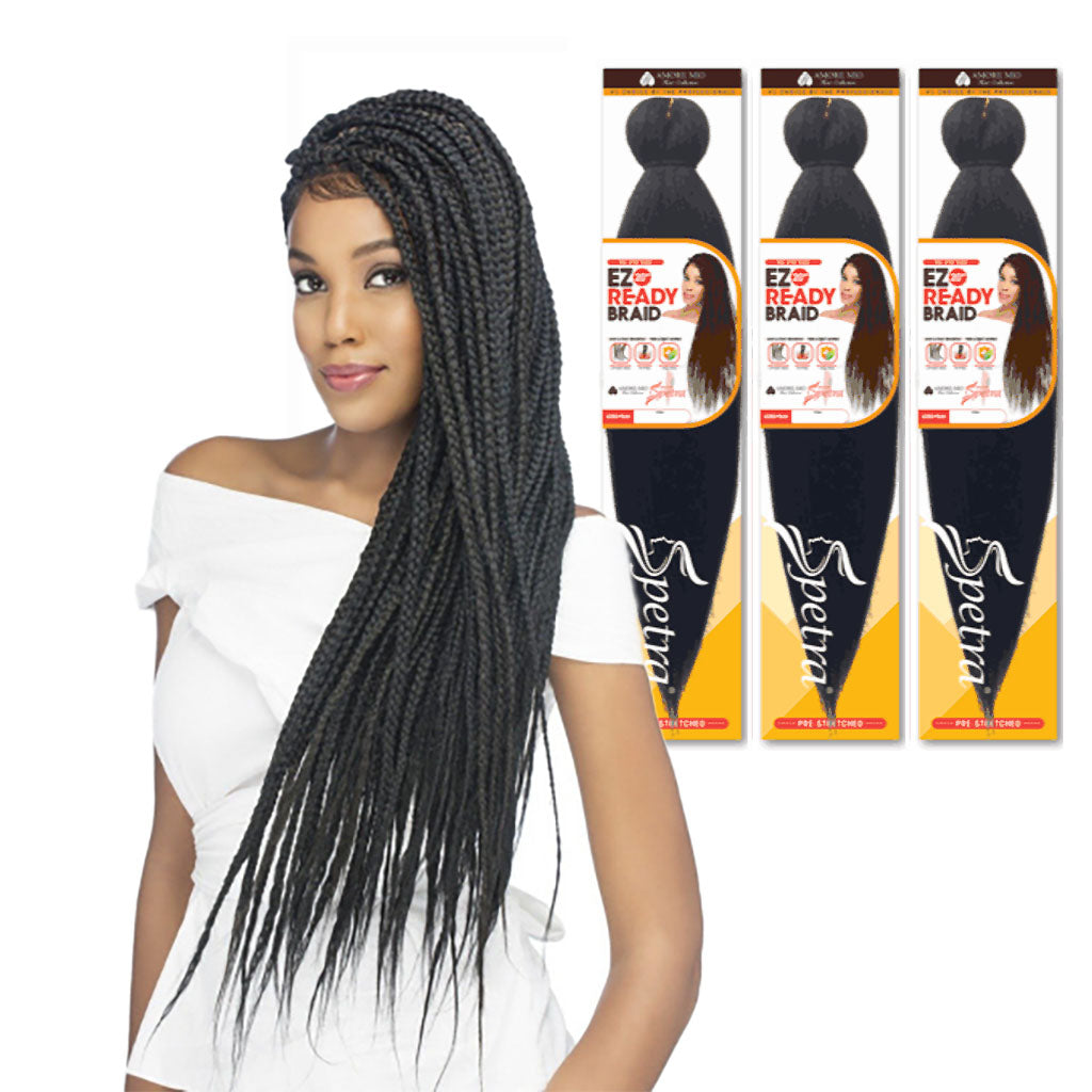 (3 Pack) Amore Mio Pre Stretched Braiding Hair 20""