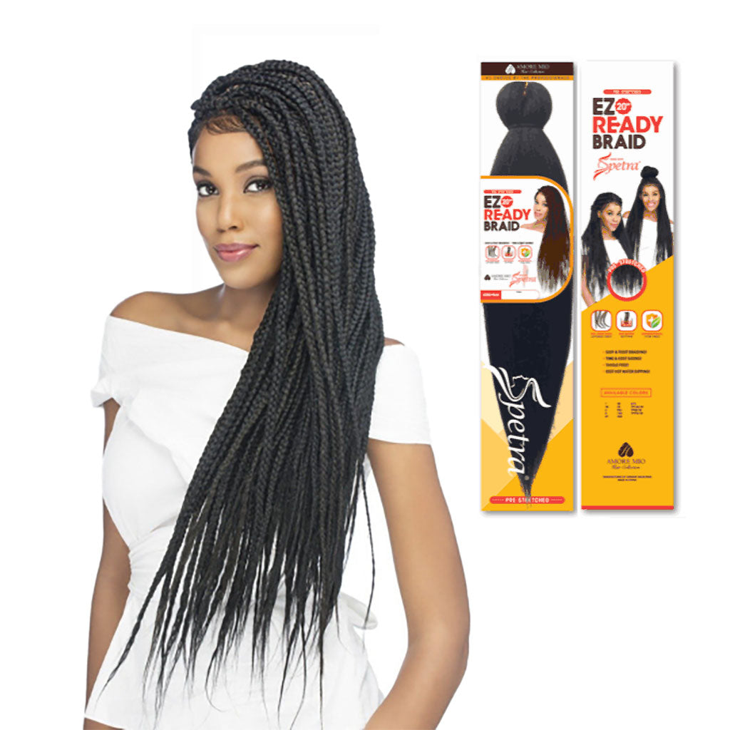 Amore Mio Pre stretched braiding hair - Hair Crown Beauty Supply