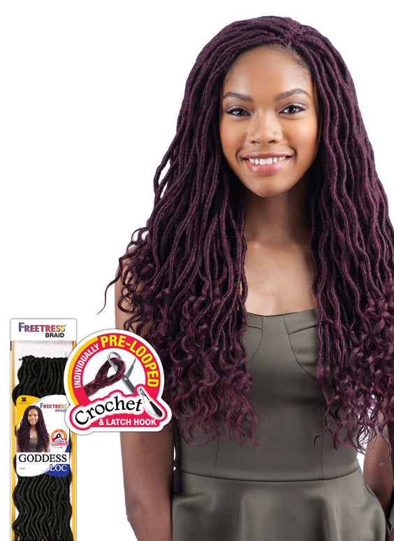 "FreeTress Goddess Loc Crochet Braid 18"" - Hair Crown Beauty Supply"