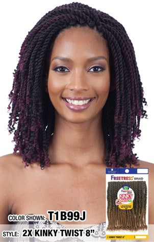 Freetress 2x Kinky Twist Crochet Braid Hair Crown Beauty